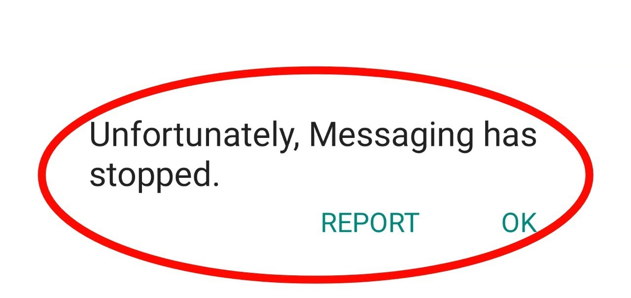 corrigir infelizmente Messaging parou No Android